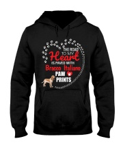 My Heart Paved With Bracco Italiano Paw Prints Hooded Sweatshirt thumbnail