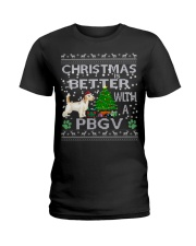 Christmas Is Better With A PBGV Ladies T-Shirt thumbnail