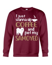 SIP COFFEE SAMOYED  Crewneck Sweatshirt thumbnail