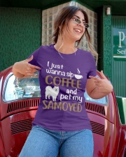 SIP COFFEE SAMOYED  Ladies T-Shirt apparel-ladies-t-shirt-lifestyle-01