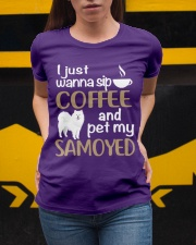 SIP COFFEE SAMOYED  Ladies T-Shirt apparel-ladies-t-shirt-lifestyle-04