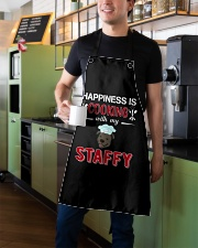 Happiness Is Cooking With My Staffy Staffordshire Apron aos-apron-27x30-lifestyle-front-01