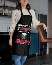 Happiness Is Cooking With My Staffy Staffordshire Apron aos-apron-27x30-lifestyle-front-02