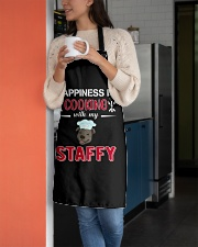 Happiness Is Cooking With My Staffy Staffordshire Apron aos-apron-27x30-lifestyle-front-05