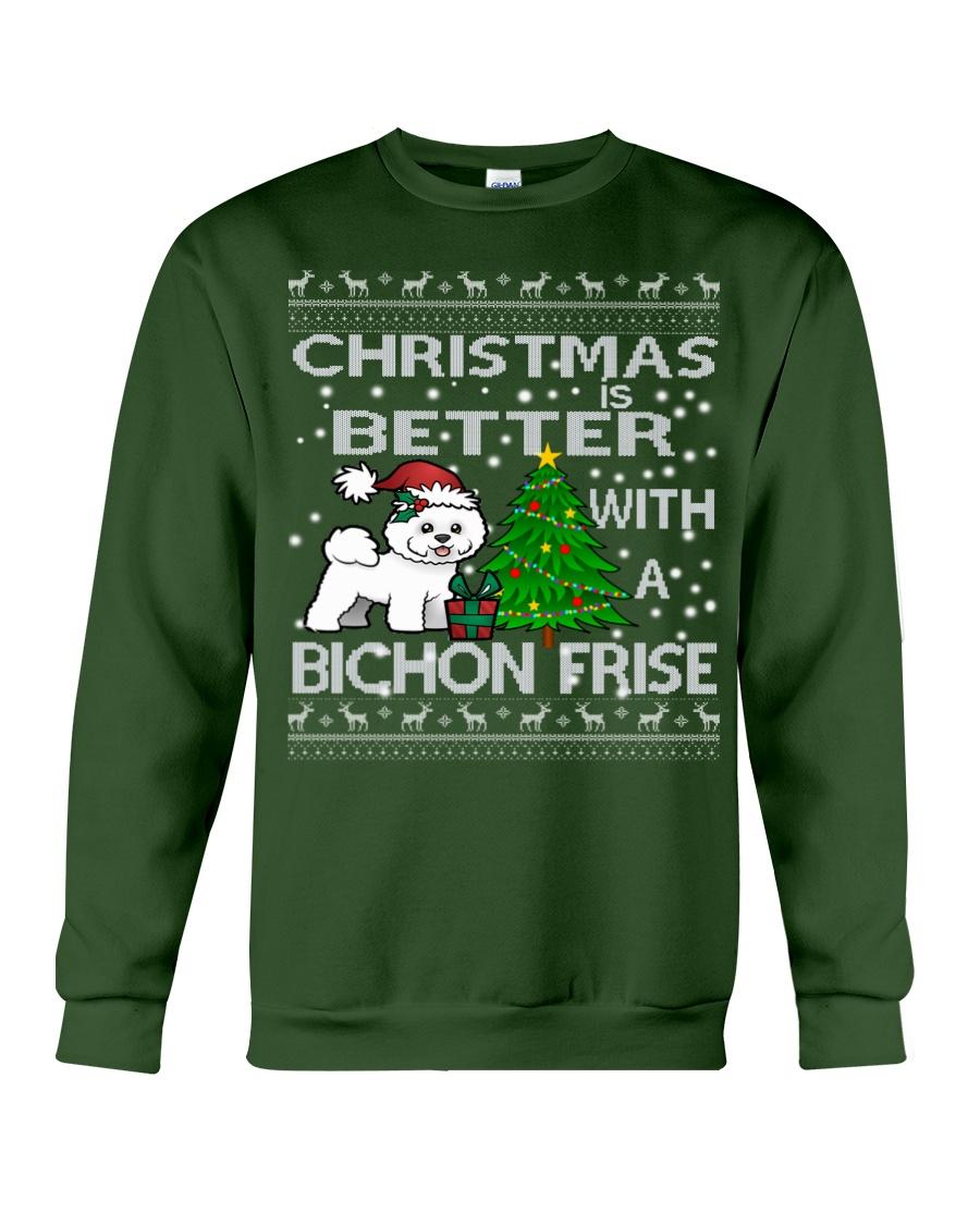 Christmas Is Better WIth A Bichon Frise Crewneck Sweatshirt