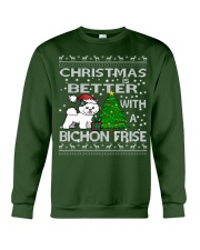 Christmas Is Better WIth A Bichon Frise Crewneck Sweatshirt front