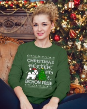 Christmas Is Better WIth A Bichon Frise Crewneck Sweatshirt lifestyle-holiday-sweater-front-2