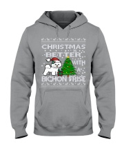 Christmas Is Better WIth A Bichon Frise Hooded Sweatshirt thumbnail