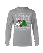 Christmas Is Better WIth A Bichon Frise Long Sleeve Tee thumbnail