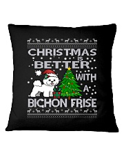 Christmas Is Better WIth A Bichon Frise Square Pillowcase thumbnail
