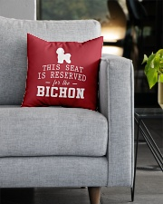 This Seat Is For Bichon Frise Square Pillowcase aos-pillow-square-front-lifestyle-05
