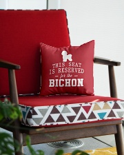 This Seat Is For Bichon Frise Square Pillowcase aos-pillow-square-front-lifestyle-09