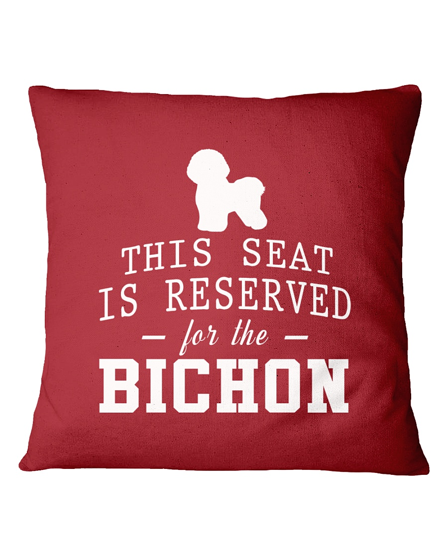 This Seat Is For Bichon Frise Square Pillowcase