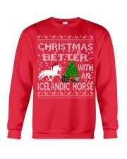 Christmas Is Better With An Icelandic Horse Crewneck Sweatshirt thumbnail