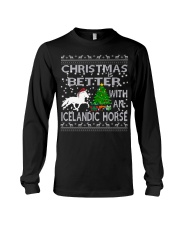 Christmas Is Better With An Icelandic Horse Long Sleeve Tee thumbnail