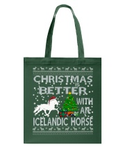 Christmas Is Better With An Icelandic Horse Tote Bag thumbnail
