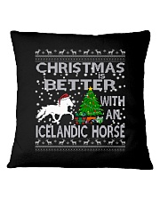 Christmas Is Better With An Icelandic Horse Square Pillowcase thumbnail