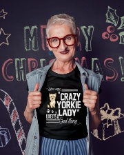Crazy Yorkie Dog Lady Ladies T-Shirt lifestyle-holiday-crewneck-front-3
