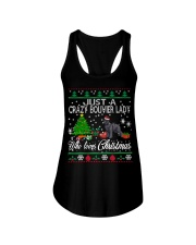 Crazy Lady Loves Bouvier And Christmas Ladies Flowy Tank thumbnail