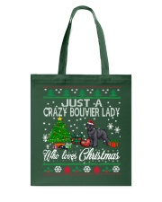 Crazy Lady Loves Bouvier And Christmas Tote Bag thumbnail