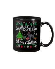 Crazy Lady Loves Bouvier And Christmas Mug thumbnail