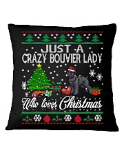 Crazy Lady Loves Bouvier And Christmas Square Pillowcase thumbnail