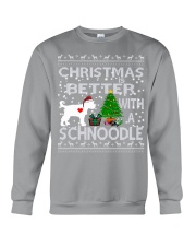 Christmas Is Better With A Schnoodle Crewneck Sweatshirt tile