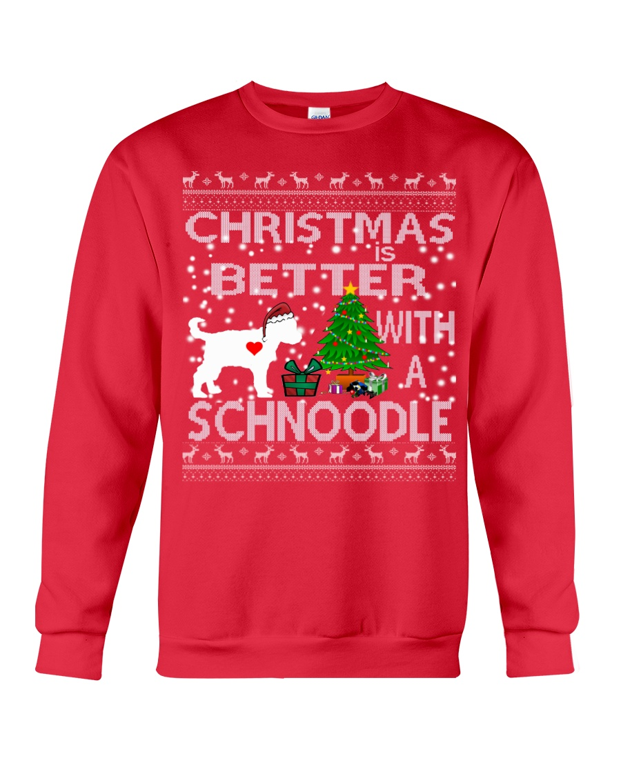 Christmas Is Better With A Schnoodle Crewneck Sweatshirt