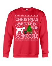 Christmas Is Better With A Schnoodle Crewneck Sweatshirt front