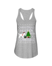 Christmas Is Better With A Schnoodle Ladies Flowy Tank thumbnail