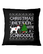 Christmas Is Better With A Schnoodle Square Pillowcase thumbnail