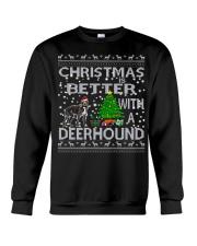 Christmas Is Better With A Deerhound Crewneck Sweatshirt tile