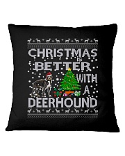 Christmas Is Better With A Deerhound Square Pillowcase thumbnail