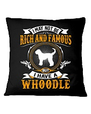 Rich And Famous WIth Whoodle Square Pillowcase thumbnail