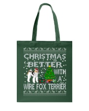 Christmas Is Better With A Wire Fox Terrier Tote Bag thumbnail