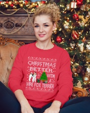 Christmas Is Better With A Wire Fox Terrier Crewneck Sweatshirt lifestyle-holiday-sweater-front-2