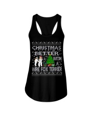 Christmas Is Better With A Wire Fox Terrier Ladies Flowy Tank thumbnail