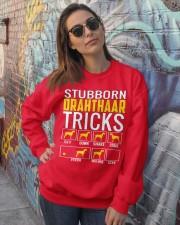 Stubborn Deutsch Drahthaar Tricks Crewneck Sweatshirt lifestyle-unisex-sweatshirt-front-3
