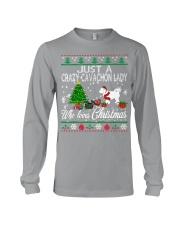 Crazy Cavachon Lady Who Loves Christmas Long Sleeve Tee thumbnail