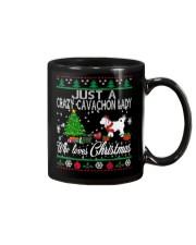 Crazy Cavachon Lady Who Loves Christmas Mug thumbnail