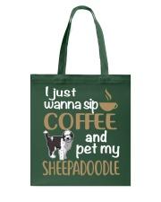 Sip Coffee Sheepadoodle Tote Bag thumbnail