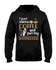 Sip Coffee Sheepadoodle Hooded Sweatshirt thumbnail