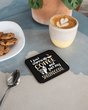 Sip Coffee Sheepadoodle Square Coaster aos-homeandliving-coasters-square-lifestyle-02