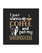 Sip Coffee Sheepadoodle Square Coaster front
