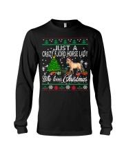 Crazy Fjord Horse Lady Who Loves Christmas Long Sleeve Tee thumbnail