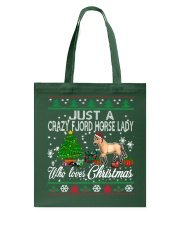 Crazy Fjord Horse Lady Who Loves Christmas Tote Bag thumbnail