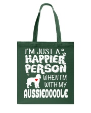 HAPPIER PERSON AUSSIEDOODLE Tote Bag thumbnail