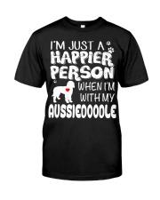 HAPPIER PERSON AUSSIEDOODLE Classic T-Shirt thumbnail