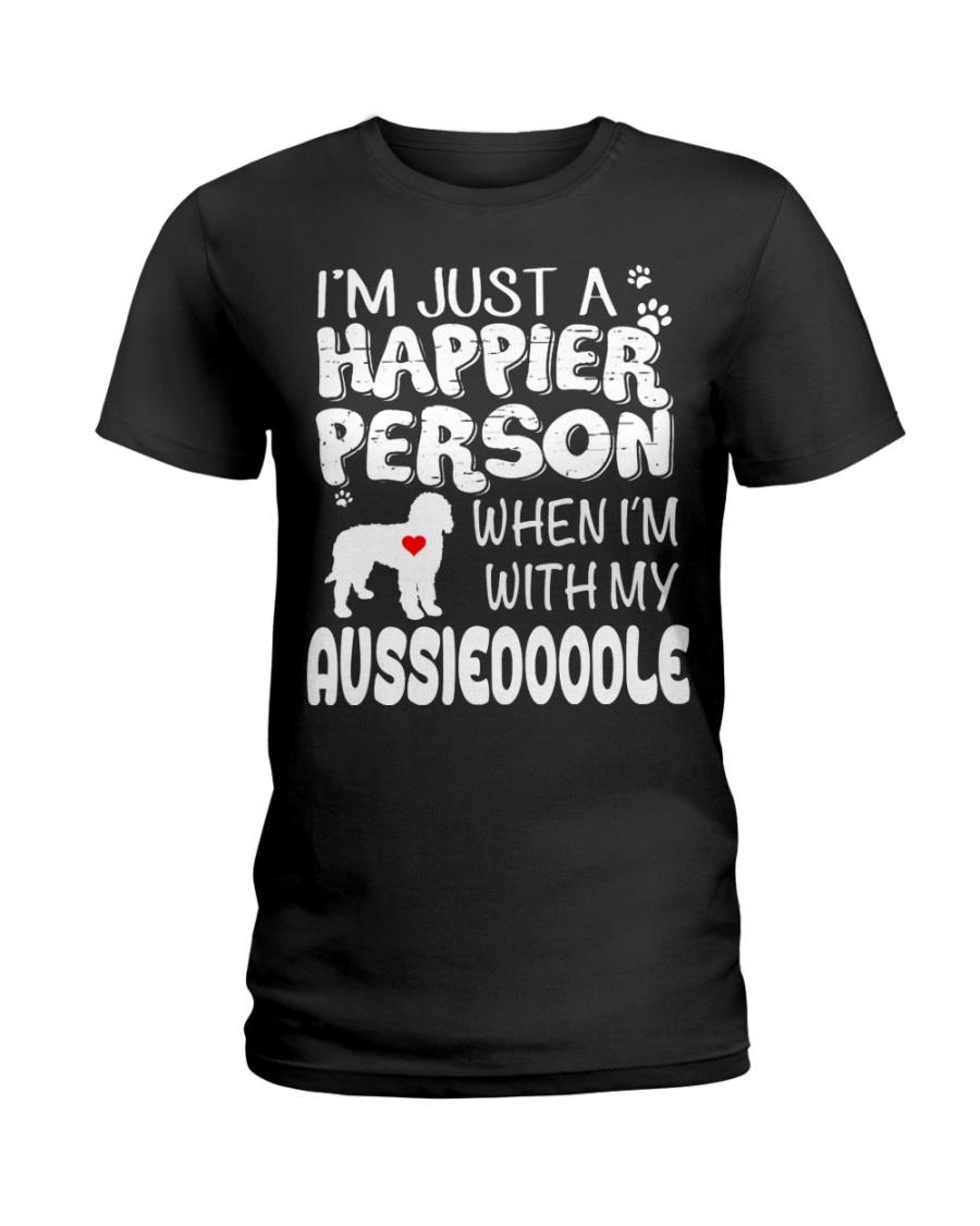 HAPPIER PERSON AUSSIEDOODLE Ladies T-Shirt