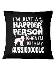 HAPPIER PERSON AUSSIEDOODLE Square Pillowcase thumbnail